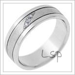 Snubní prsteny LSP 1507 bílé zlato