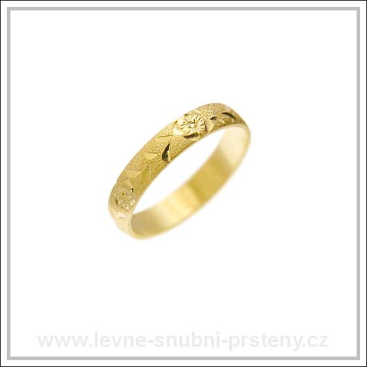 Snubní prsteny LSP 1508 žluté zlato