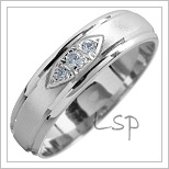 Snubní prsteny LSP 1509 bílé zlato