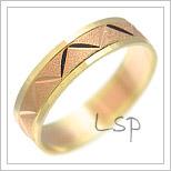 Snubní prsteny LSP 1510 kombinované zlato
