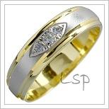 Snubní prsteny LSP 1512 kombinované zlato