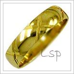 Snubní prsteny LSP 1515 žluté zlato