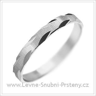Snubní prsteny LSP 1519 bílé zlato