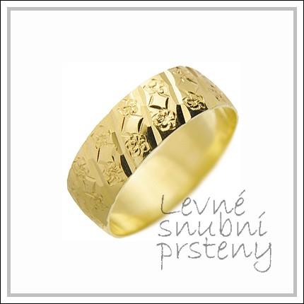 Snubní prsteny LSP 1520 žluté zlato