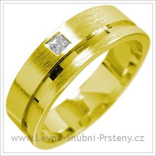 Snubní prsteny LSP 1522 žluté zlato