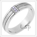 Snubní prsteny LSP 1524 bílé zlato