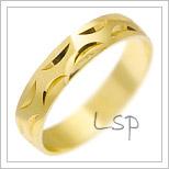 Snubní prsteny LSP 1527 žluté zlato