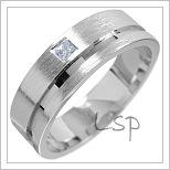 Snubní prsteny LSP 1530 bílé zlato