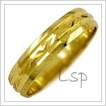 Snubní prsteny LSP 1532 žluté zlato