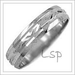 Snubní prsteny LSP 1532b bílé zlato