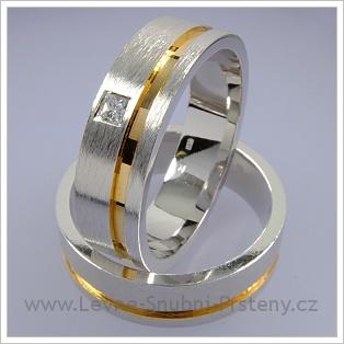 Snubní prsteny LSP 1533 kombinované zlato