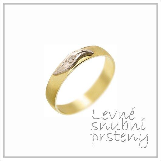 Snubní prsteny LSP 1534 kombinované zlato