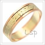 Snubní prsteny LSP 1535 kombinované zlato