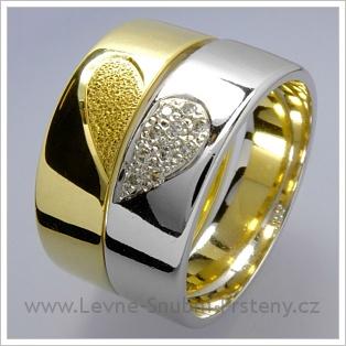 Snubní prsteny LSP 1537 bílé zlato