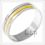 Snubní prsteny LSP 1539 kombinované zlato