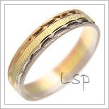Snubní prsteny LSP 1542 kombinované zlato