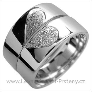Snubní prsteny LSP 1545 bílé zlato