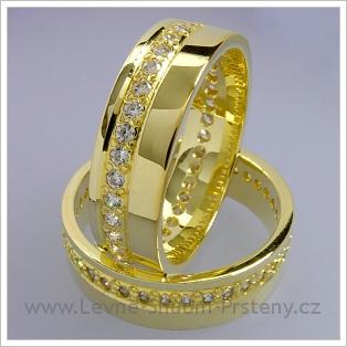 Snubní prsteny LSP 1547 žluté zlato