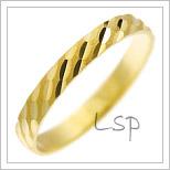 Snubní prsteny LSP 1548 žluté zlato