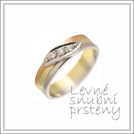 Snubní prsteny LSP 1550 kombinované zlato
