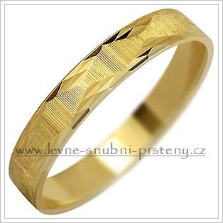 Snubní prsteny LSP 1551 žluté zlato