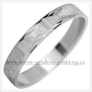 Snubní prsteny LSP 1551b bílé zlato