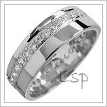 Snubní prsteny LSP 1552 bílé zlato