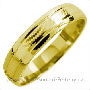 Snubní prsteny LSP 1554 žluté zlato