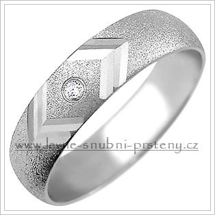 Snubní prsteny LSP 1556b bílé zlato