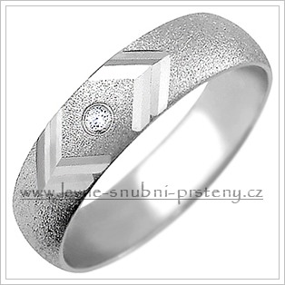 Snubní prsteny LSP 1556bz bílé zlato