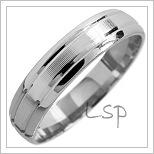 Snubní prsteny LSP 1557 bílé zlato