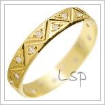 Snubní prsteny LSP 1559 žluté zlato