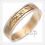 Snubní prsteny LSP 1562 kombinované zlato