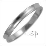Snubní prsteny LSP 1563b bílé zlato