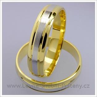 Snubní prsteny LSP 1566 kombinované zlato