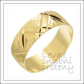 Snubní prsteny LSP 1569 žluté zlato