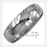 Snubní prsteny LSP 1570b bílé zlato