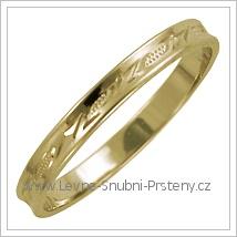 Snubní prsteny LSP 1571 žluté zlato