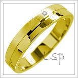 Snubní prsteny LSP 1572 žluté zlato