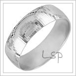Snubní prsteny LSP 1573b bílé zlato