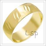 Snubní prsteny LSP 1575 žluté zlato