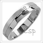 Snubní prsteny LSP 1576 bílé zlato