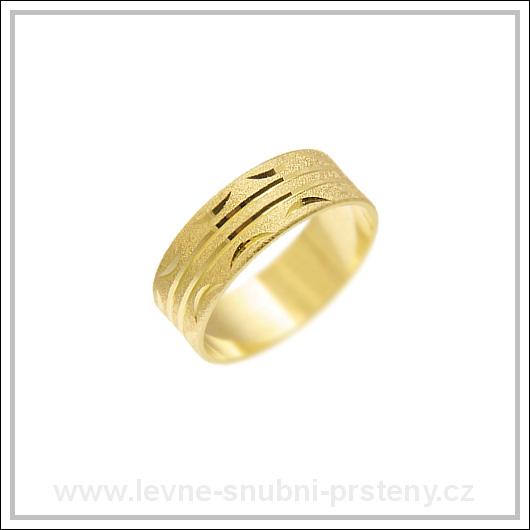 Snubní prsteny LSP 1578 žluté zlato
