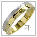 Snubní prsteny LSP 1580 kombinované zlato