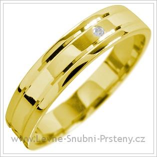 Snubní prsteny LSP 1582 žluté zlato