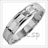Snubní prsteny LSP 1584 bílé zlato