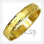 Snubní prsteny LSP 1586 žluté zlato