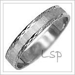 Snubní prsteny LSP 1586b bílé zlato