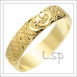 Snubní prsteny LSP 1587 žluté zlato