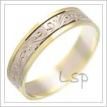Snubní prsteny LSP 1588 kombinované zlato